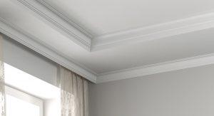 Corner of ceiling cornices