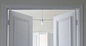 White double doors with white frame