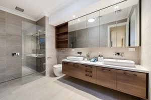 Bathroom renovations with floor to ceiling tiles